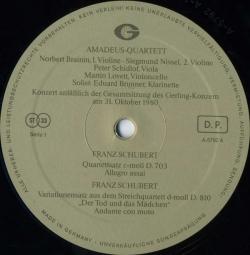 Franz Schubert - Wolfgang Amadeus Mozart: Quintett Für Klarinette Und Streicher A-Dur KV 581 / Franz Schubert: Quartettsatz C-Moll D. 703 / Variationensatz Aus Dem Streichquartett D-Moll D. 810