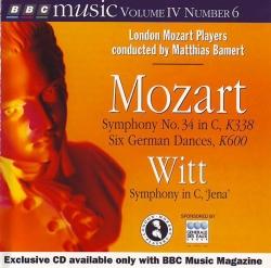 London Mozart Players - Symphony No. 34 In C, K338 / Six German Dances, K600 / Symphony In C,