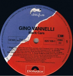 Gino Vannelli - Black Cars