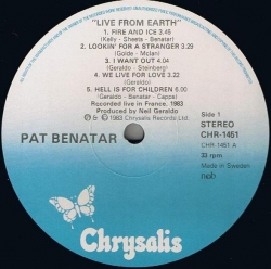 Pat Benatar - Live From Earth