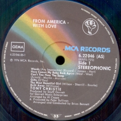 Tony Christie - From America With Love