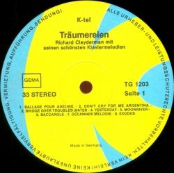 Richard Clayderman - Träumereien - Richard Clayderman Mit Seinen Schönsten Klaviermelodien