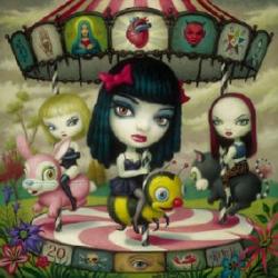 Jack Off Jill - Clear Hearts Grey Flowers